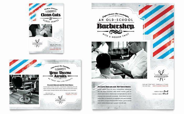 1/4 Page Flyer Template Free Awesome Barbershop Flyer & Ad Template Design