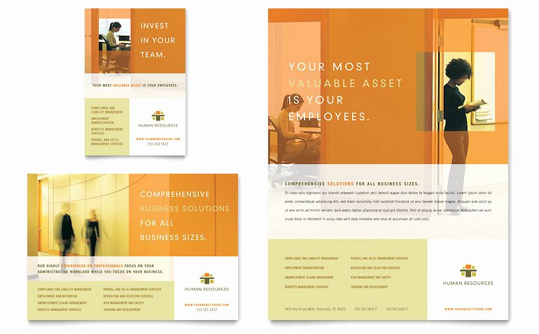 1/4 Page Flyer Template Free Awesome Hr Consulting Flyer & Ad Template Word & Publisher
