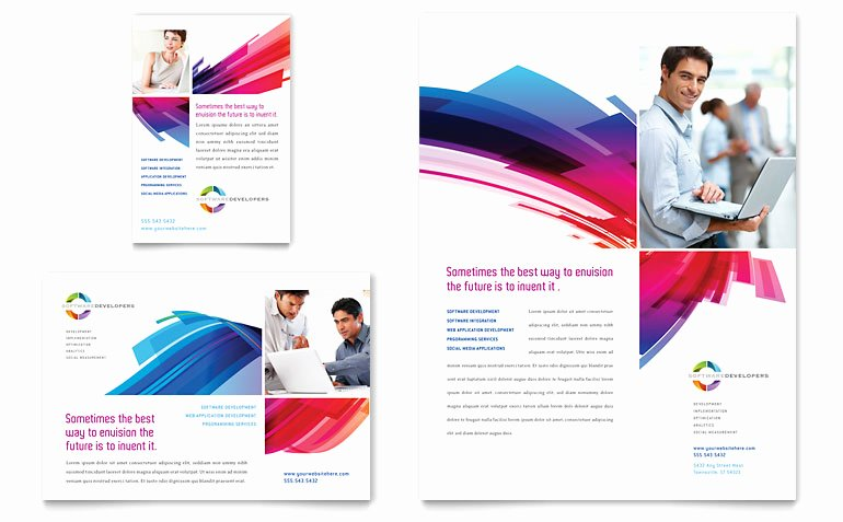 1/4 Page Flyer Template Free Awesome software solutions Flyer & Ad Template Word & Publisher