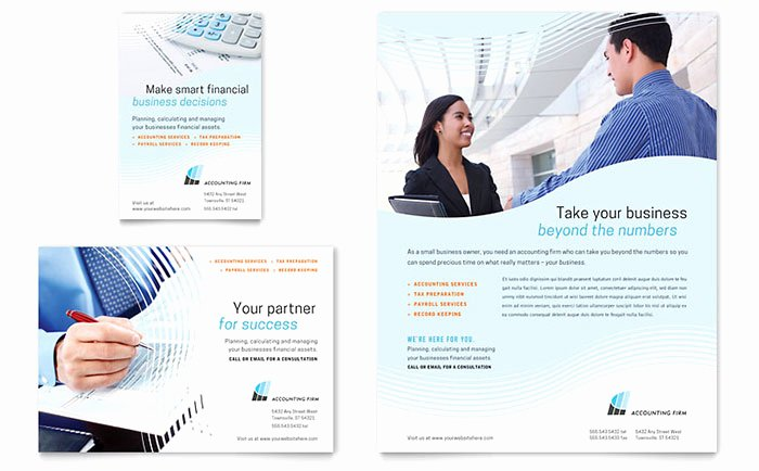 1/4 Page Flyer Template Free Beautiful Accounting Firm Flyer & Ad Template Word & Publisher