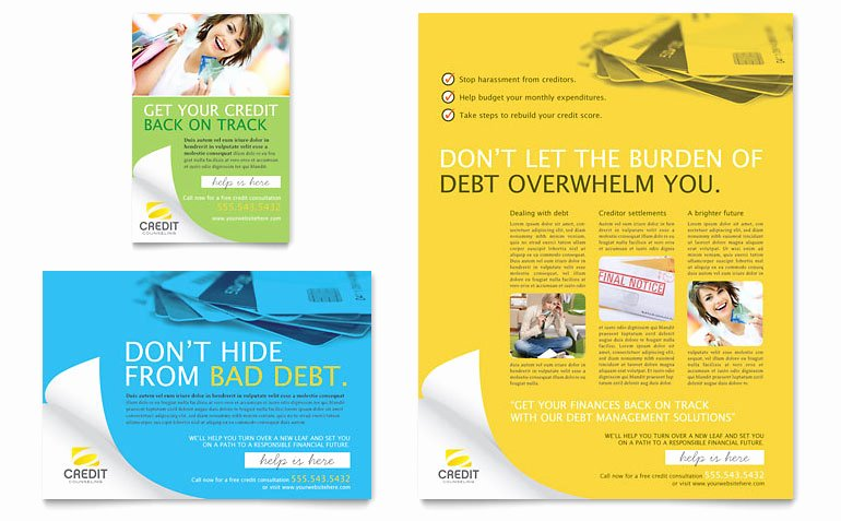 1/4 Page Flyer Template Free Best Of Consumer Credit Counseling Flyer & Ad Template Word