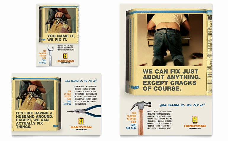 1/4 Page Flyer Template Free Best Of Home Repair Services Flyer & Ad Template Word & Publisher