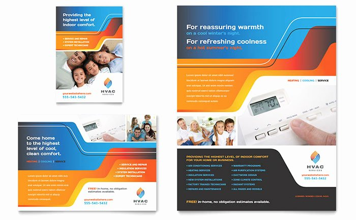 1/4 Page Flyer Template Free Best Of Hvac Flyer & Ad Template Design
