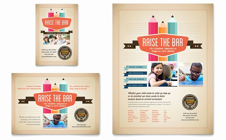 1/4 Page Flyer Template Free Best Of Tutoring School Flyer & Ad Template Word & Publisher