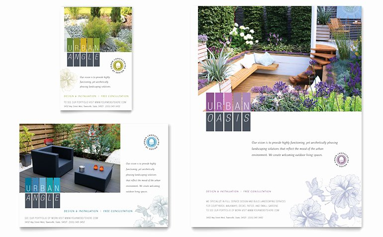 1/4 Page Flyer Template Free Best Of Urban Landscaping Flyer & Ad Template Word & Publisher
