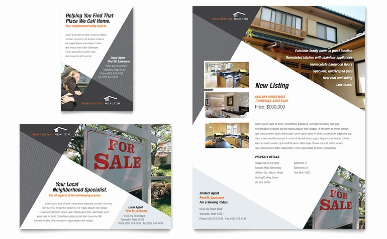 1/4 Page Flyer Template Free Elegant Contemporary & Modern Real Estate Flyer & Ad Template