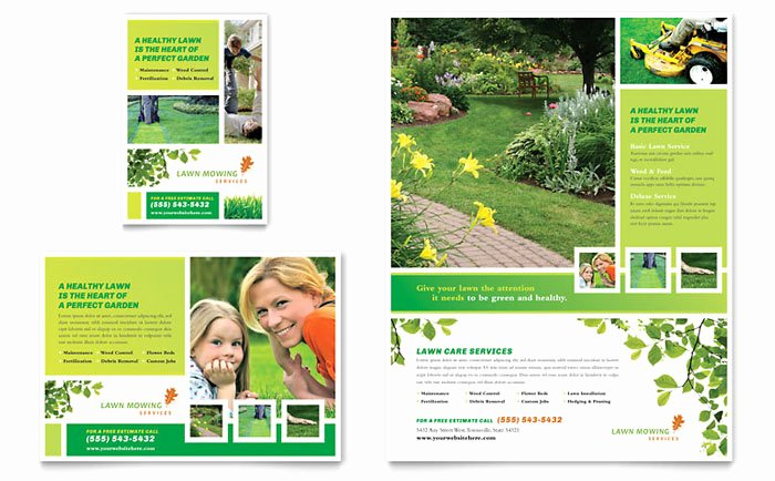 1/4 Page Flyer Template Free Elegant Lawn Mowing Service Flyer & Ad Template Design