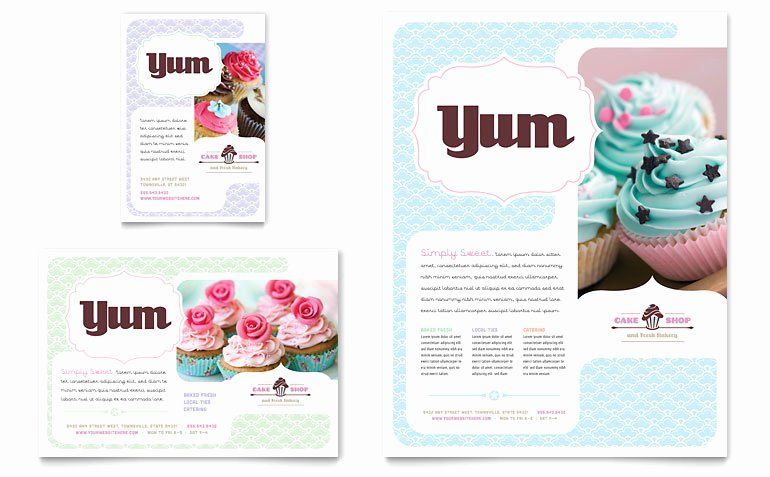 1/4 Page Flyer Template Free Fresh Bakery & Cupcake Shop Flyer & Ad Template Word & Publisher
