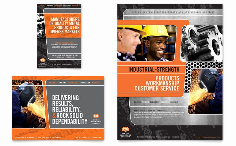 1/4 Page Flyer Template Free Fresh Manufacturing Engineering Flyer & Ad Template Word