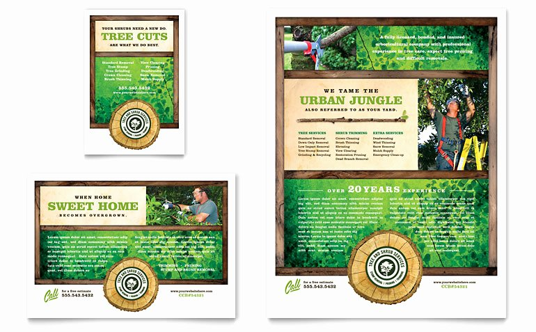 1/4 Page Flyer Template Free Fresh Tree Service Flyer & Ad Template Word & Publisher