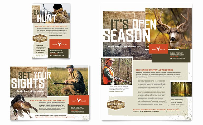 1/4 Page Flyer Template Free Inspirational Hunting Guide Flyer & Ad Template Word & Publisher