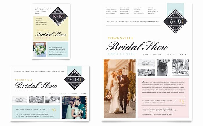 1/4 Page Flyer Template Free Lovely Bridal Show Flyer & Ad Template Design