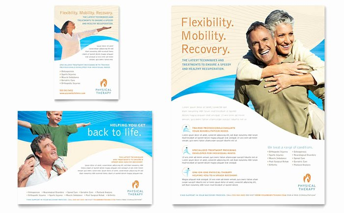 1/4 Page Flyer Template Free Lovely Physical therapist Flyer & Ad Template Design