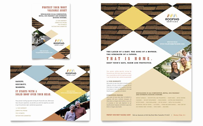 1/4 Page Flyer Template Free Lovely Roofing Contractor Flyer & Ad Template Word & Publisher