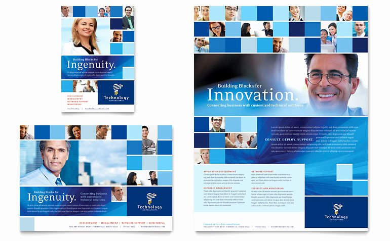 1/4 Page Flyer Template Free Lovely Technology Consulting & It Flyer & Ad Template Word