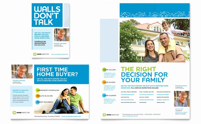1/4 Page Flyer Template Free New Home Inspection & Inspector Flyer & Ad Template Design