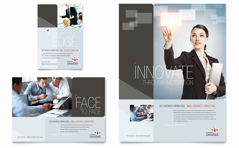1/4 Page Flyer Template Free Unique Corporate Business Flyer & Ad Template Word & Publisher