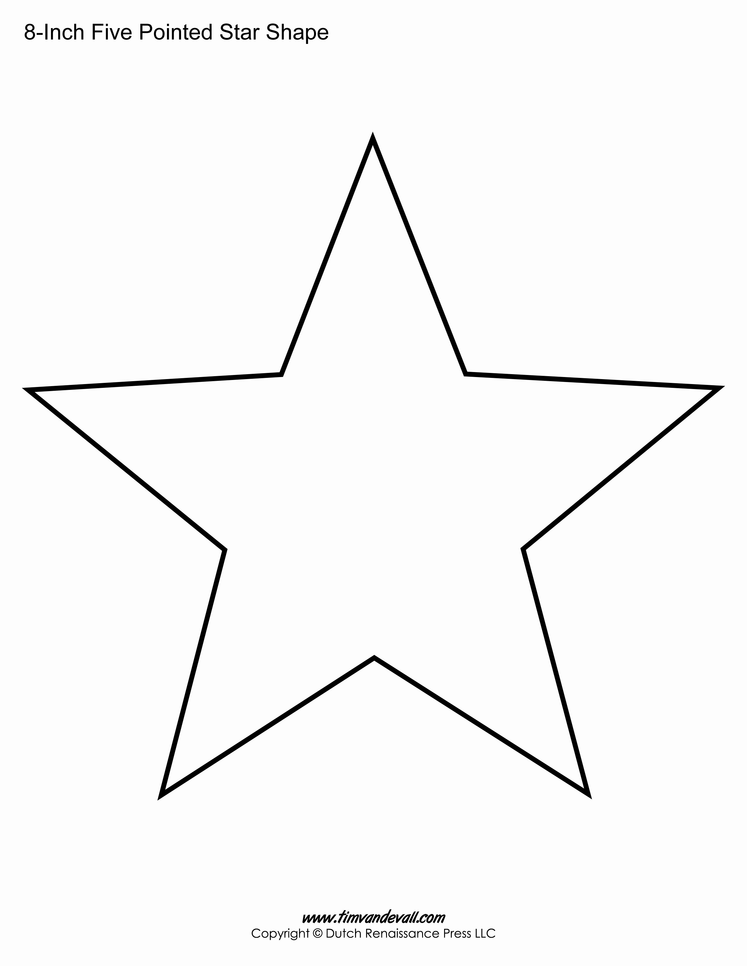 1 Inch Star Template Awesome Printable Five Pointed Star Templates Blank Shape Pdfs