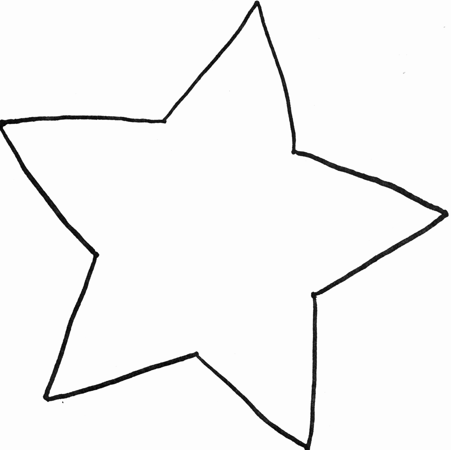 1 Inch Star Template Awesome Star Template