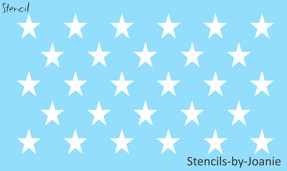 1 Inch Star Template Elegant Patriotic Stencil 1 75 Inch Stars Proud American Flag