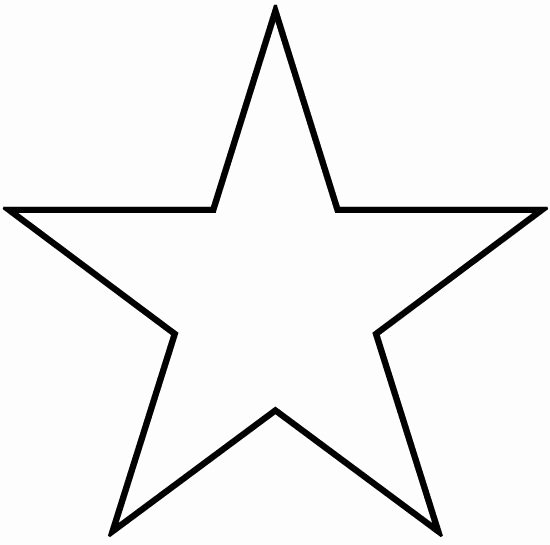 1 Inch Star Template Fresh Stars to Print and Cut Out Star Shape Cutouts