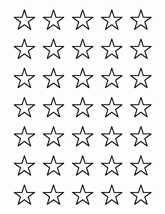 1 Inch Star Template Inspirational 1 Inch Star Pattern Use the Printable Outline for Crafts