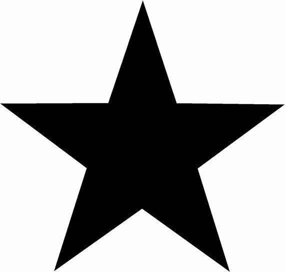 1 Inch Star Template Lovely 5 Point Star solid 5 Inch Vinyl Decal Perfect for Windows