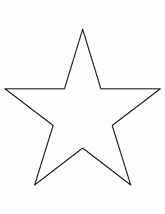 1 Inch Star Template New 8 Inch Star Pattern Use the Printable Outline for Crafts