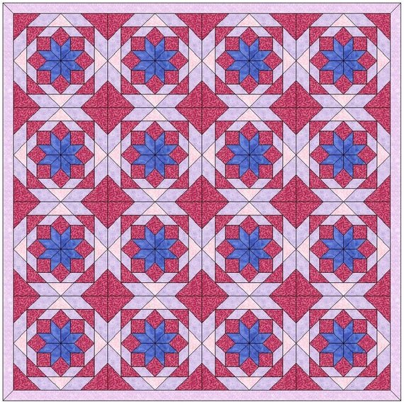 10 Inch Star Template Best Of Star and Chains Paper Template 10 Inch Quilting Block