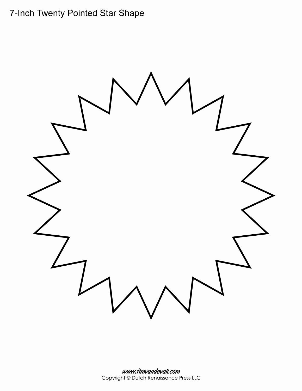 10 Inch Star Template Fresh Printable Twenty Pointed Star Templates Blank 20 Sided Star
