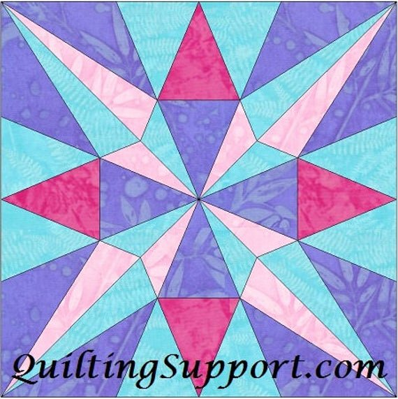 10 Inch Star Template Inspirational Eq Star 3 10 Inch Paper Piece Foundation Quilting Block