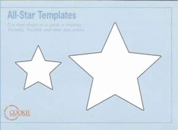 10 Inch Star Template Lovely Star Cookies with Templates