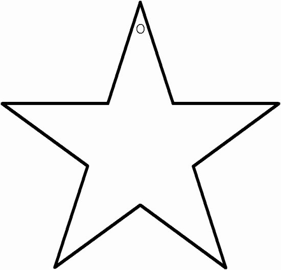 10 Inch Star Template Lovely Star Template isew