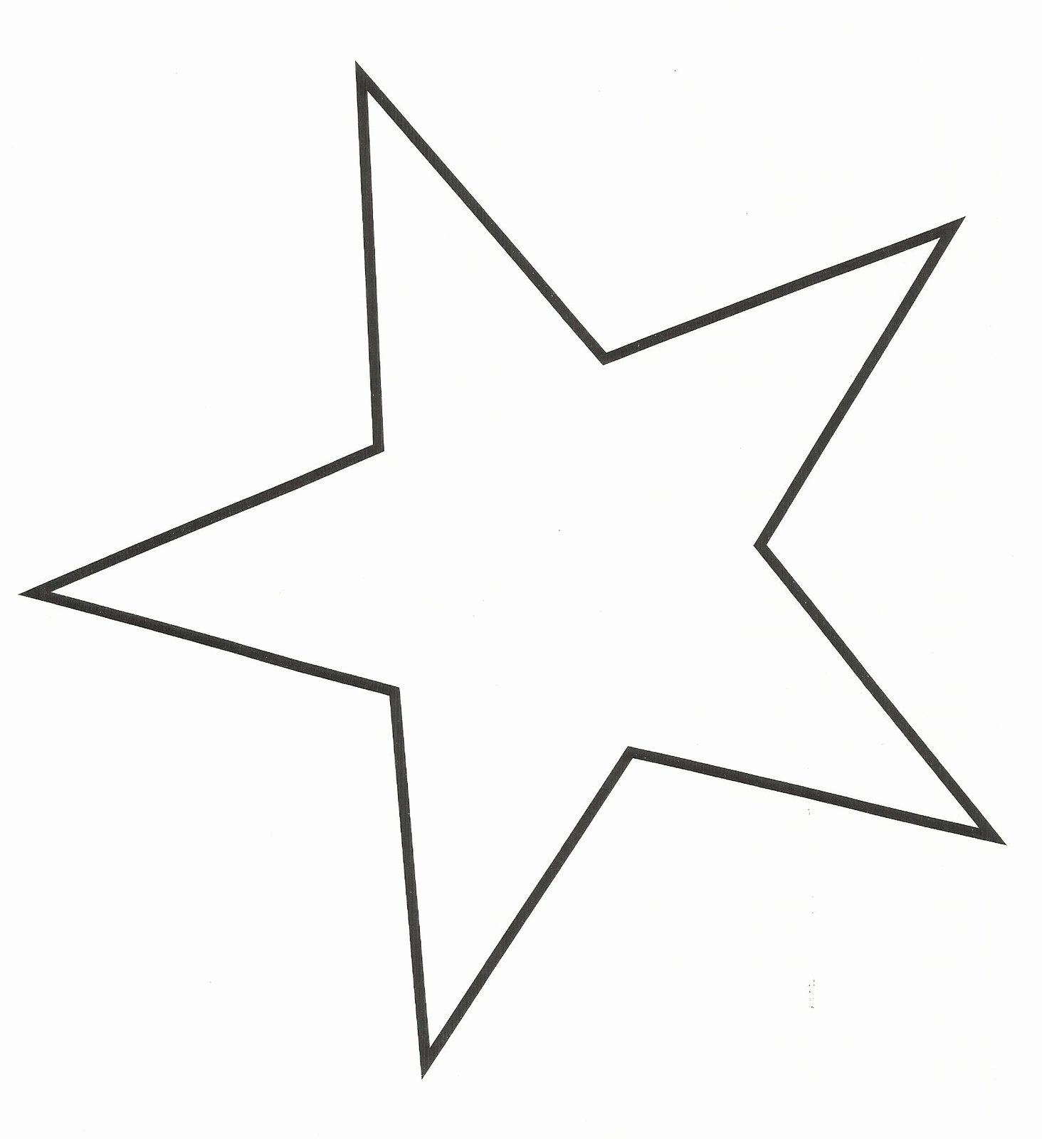 10 Inch Star Template Luxury Best Star Outline 1987 Clipartion