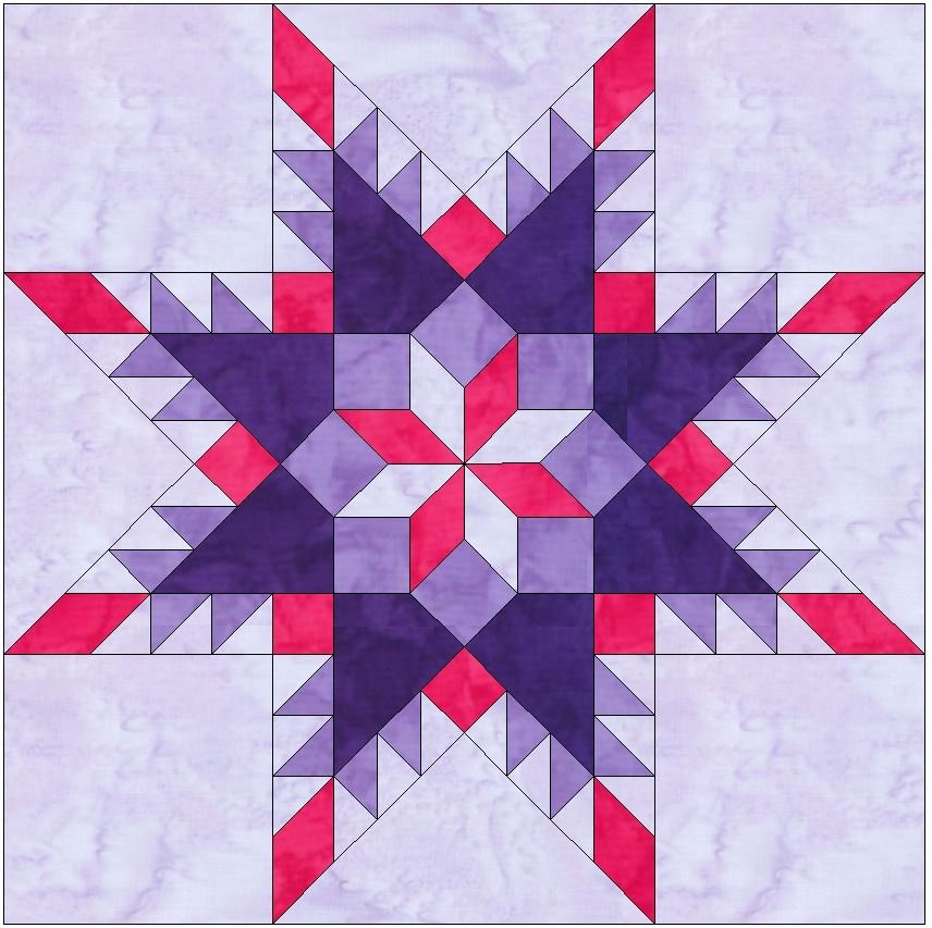 10 Inch Star Template New Feathered Star In Star 10 Inch Paper Piece Foundation