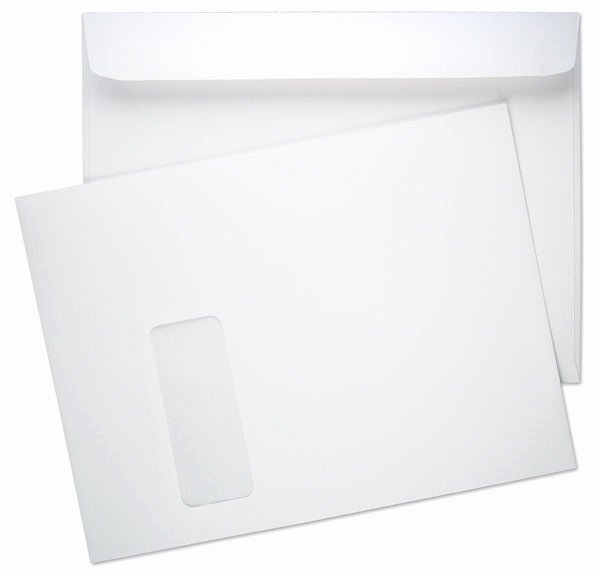10 Window Envelope Template Pdf New 9 X 12 Booklet 28lb White Wove Vertical Window 2