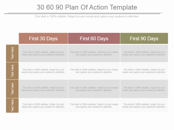 100 Day Plan Template Fresh 30 60 90 Day Plan Designs that'll Help You Stay On Track