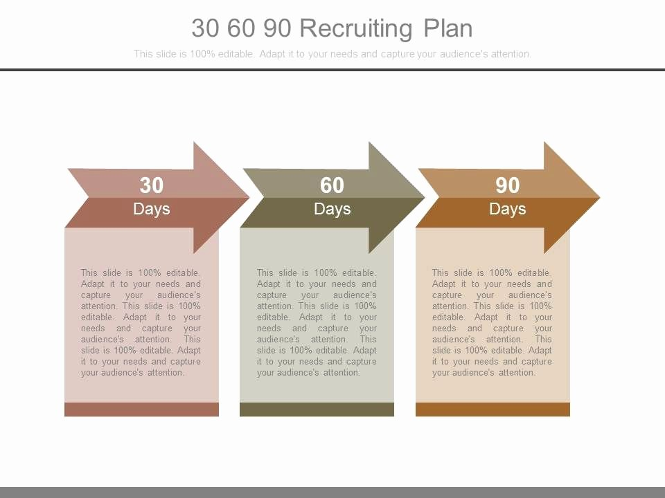 100 Day Plan Template Lovely 30 60 90 Recruiting Plan Powerpoint Templates