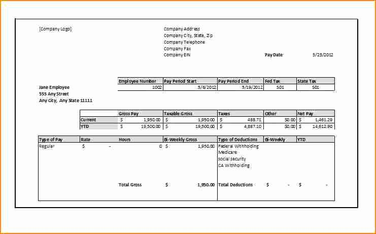 1099 Invoice Template Unique 11 1099 Pay Stub Template Excel