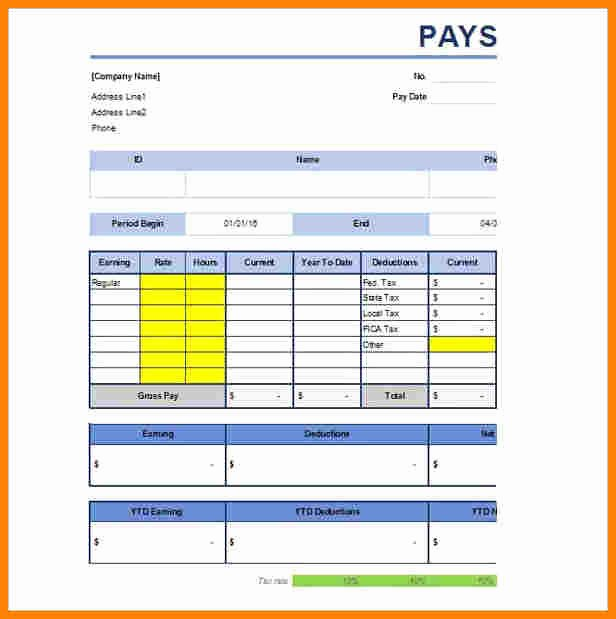 1099 Pay Stub Template Excel Luxury 5 1099 Pay Stub Template Excel