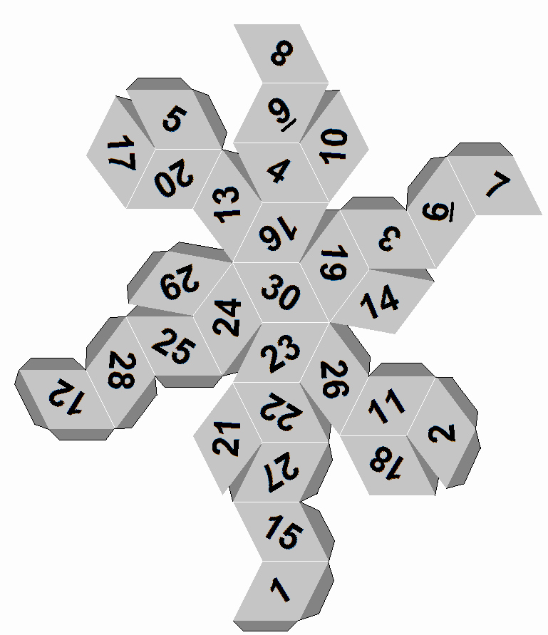 12 Sided Dice Template Fresh Dicecollector S Paper Dice Templates
