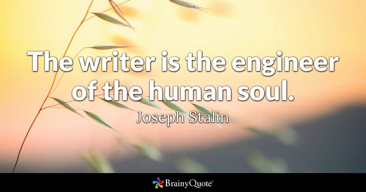 1953 Essay by John Steinbeck Elegant Joseph Stalin the Writer is the Engineer Of the Human soul