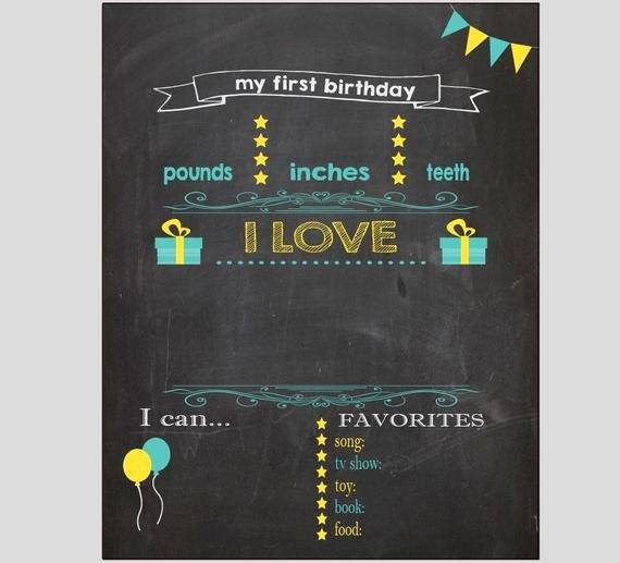 1st Birthday Chalkboard Sign Template Free Lovely Blank First Birthday Chalkboard Diy 1st Birthday Board Digital