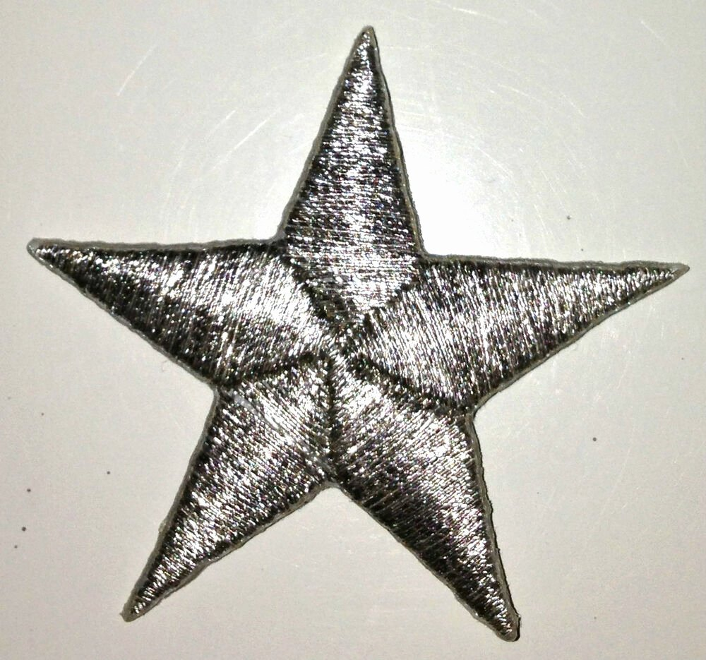 2 Inch Star Awesome Silver 1 2 Inch Iron On Star Patch Applique Kid Patches