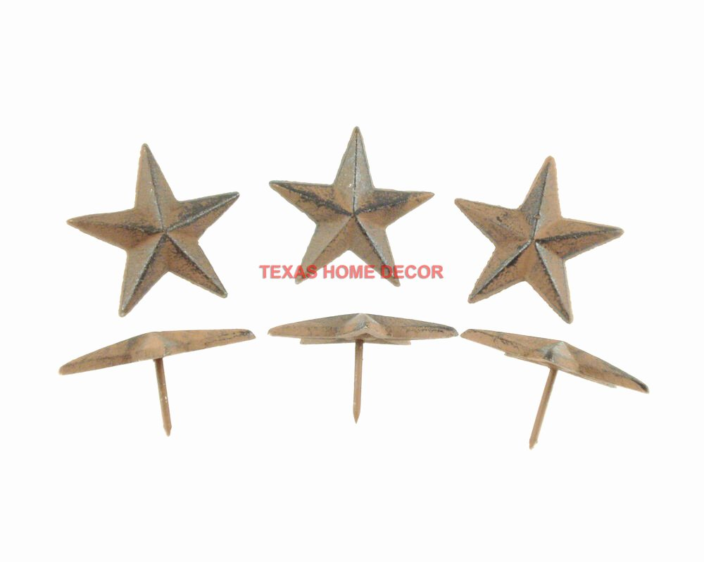 2 Inch Star Beautiful Lot 6 Cast Iron 2 5 Inch Texas Star Nails Tacks Rustic