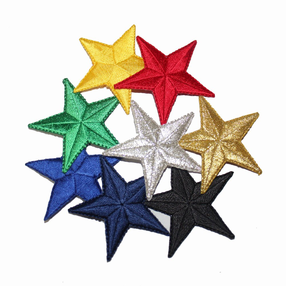 2 Inch Star Best Of 2 Inch Embroidered Iron On Star Patches sold Separately