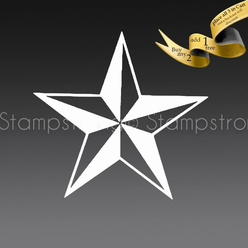 2 Inch Star Best Of 2 Inch Nautical Star Vinyl Decal Sticker Die Cut Tatoo 064