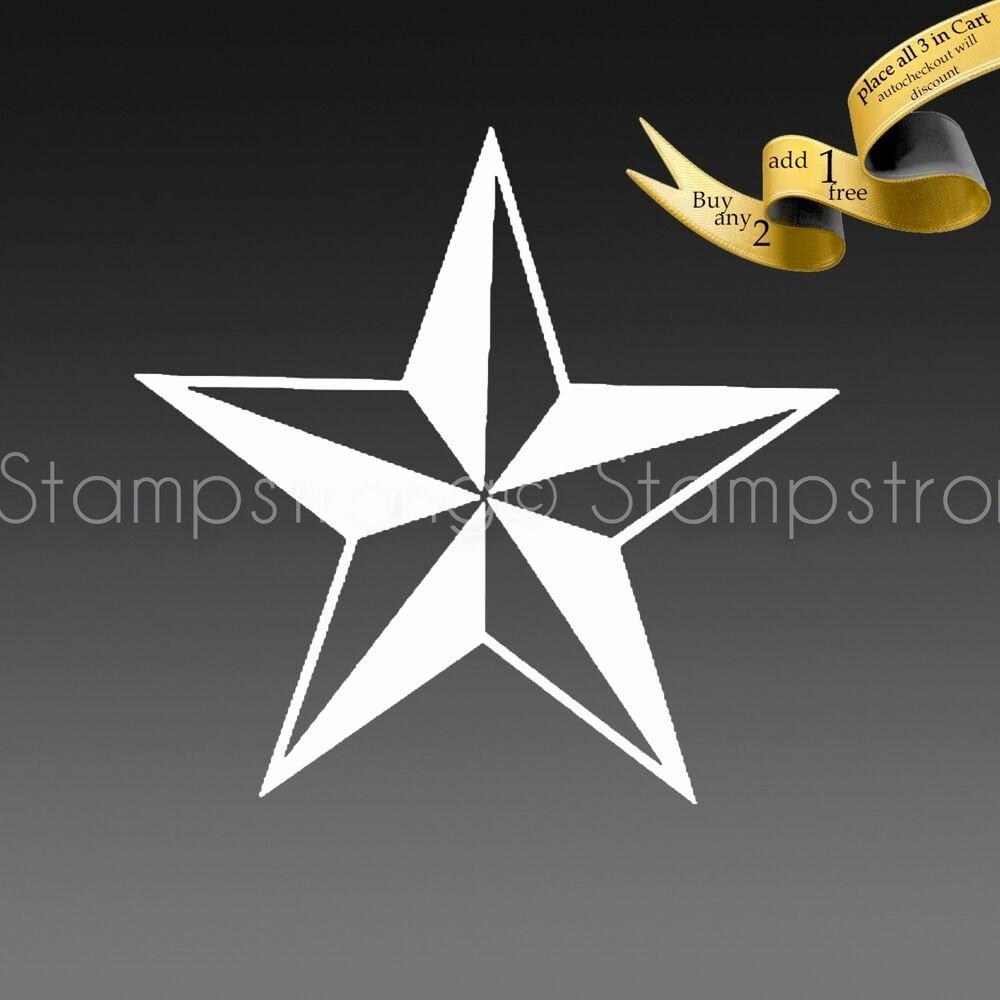 2 Inch Star Best Of 2 Inch Nautical Star Vinyl Decal Sticker Die Cut Tatoo 064