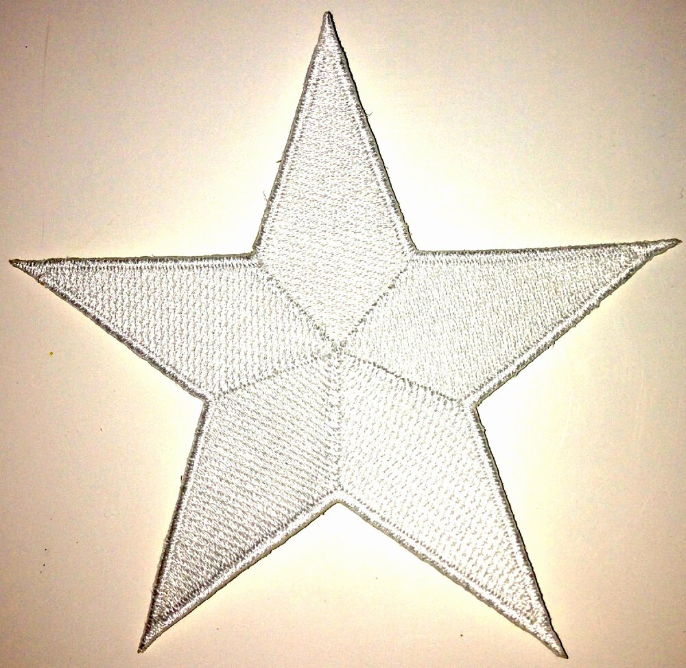 2 Inch Star Fresh 4 Inch White Star Iron Patch Patches as Many as You