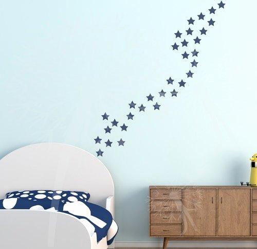 2 Inch Star Lovely 2 Inch Star Stickers for the Wall Decor Vinyl Wall Art
